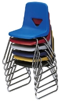Picture of Scholar Craft 120 Series, 123-SB Poly Plastic Classroom Sled Base Chair