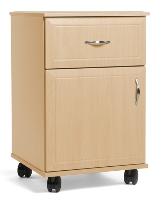 Picture of Stance Kindred SK110-C, Healthcare Medical Mobile Bedside Table,1 Drawer,Door