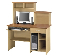 Picture of Bestar Active 86450, 86450-55, Laminate Computer Desk Workstation