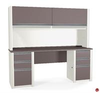 Picture of Bestar Connexion 93860,93860-59 Contemporary Credenza Storage Desk Workstation