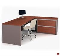 Picture of Bestar Connexion 93862,93862-68 Contemporary L Shape Computer Desk Workstation