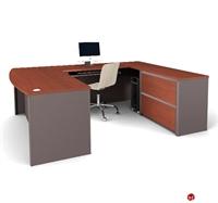 Picture of Bestar Connexion 93865,9386-68 Contemporary U Shape Computer Desk Workstation