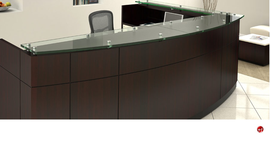 The Office Leader Contemporary Laminate L Shape Reception