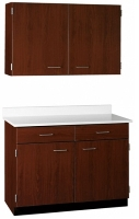 "Picture of 42""W Cabinetry Suite SA009, Two Door Wall Unit, Base Unit with Countertop"