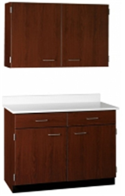 """Picture of 42""""W Cabinetry Suite SA009, Two Door Wall Unit, Base Unit with Countertop"""