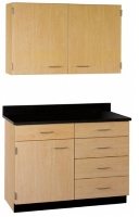 """Picture of 36""""W Cabinetry Suite SA016, Two Door Wall Unit, Base Unit with Countertop"""