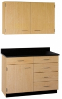 """Picture of 42""""W Cabinetry Suite SA016, Two Door Wall Unit, Base Unit with Countertop"""