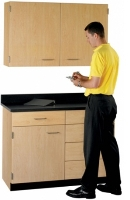 """Picture of 48""""W Cabinetry Suite SA016, Two Door Wall Unit, Base Unit with Countertop"""