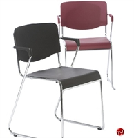 Picture of AMIGO Contemporary Poly Guest Side Reception Chair, Sled Base