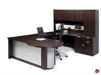 Picture of Aramis Contemporary Veneer U Shape Office Desk Workstation