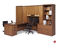Picture of Aramis Contemporary Veneer Executive L Shape Office Desk Workstation