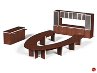 Picture of Contemporary Veneer Conference Table, Conference Credenza and Storage