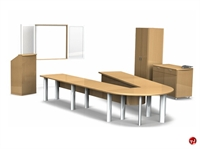 Picture of Contemporary Veneer Conference Table, Credenza, Lecturn,Presentation Board, and Storage
