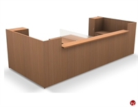 Picture of Contemporary Veneer 2 Person Reception Office Desk Workstation