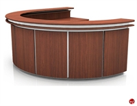 Picture of Contemporary Veneer Circular Reception Office Desk Workstation