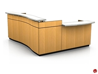Picture of Contemporary Veneer L Shape Reception Office Desk Workstation