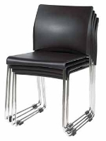 Picture of Contemporary Guest Side Reception Armless Stack Chair