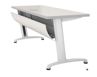 """Picture of Abco Z Series 30"""" x 66"""" Training Table, Locking Curved Modesty Panel, Z33066"""
