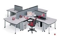Picture of Abco Endure ENDCONFIG10, 4 Person L Shape Office Desk Workstation