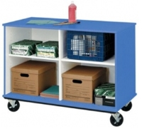 """Picture of 36""""H Divided Shelf Mobile Storage Cabinet"""