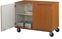 """Picture of 36""""H Closed Mobile Storage Cabinet"""