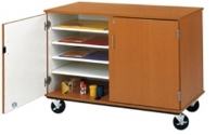 """Picture of 36""""H Closed Mobile Paper and Art Storage Cabinet"""