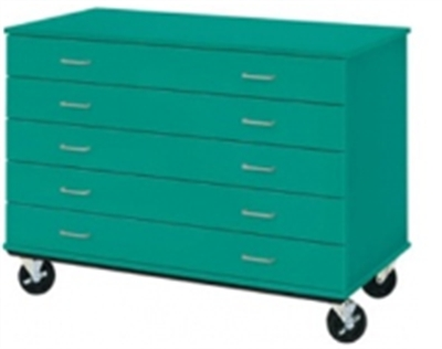 """Picture of 36""""H Mobile Five Drawer Storage Cabinet"""