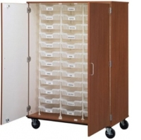"Picture of 67""H Mobile Storage Cabinet, 36 Bins, Racking System"