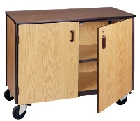 Picture of Ironwood 1001-C, Mobile Low Storage Cabinet with Doors