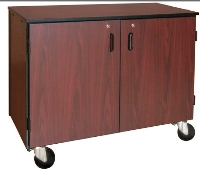 Picture of Ironwood 1003, Mobile Double Faced Closed Low Storage Cabinet