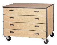 Picture of Ironwood 1023, Mobile Closed Drawer Storage Cabinet