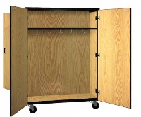 Picture of Ironwood 1038, Mobile Closed Double Faced Combo Wardrobe Storage Cabinet