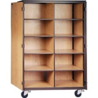 Picture of Ironwood 1042, Mobile Closed Cubical Storage Cabinet with Locks