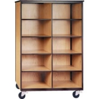 Picture of Ironwood 1042, Mobile Open Cubical Storage Cabinet
