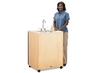 Picture of Jonti Craft 1361JC, Mobile Portable Sink - Stainless Steel