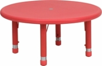 Picture of Adjustable Round Plastic School Kids Play Table