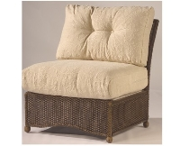 Picture of Whitecraft Bravo S395061A, Outdoor Wicker Cushion Modular Amrless Chair