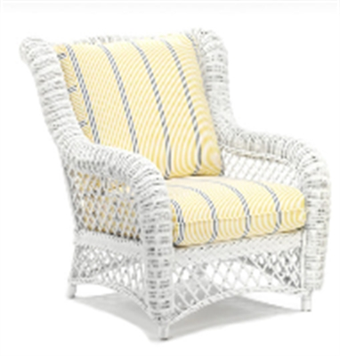 Picture of Whitecraft Empire S241911, Protected Outdoor Wicker /Cushion Wing Chair