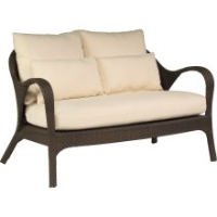 Picture of Whitecraft Bali S533021, All Weather Outdoor Wicker Cushion 2 Seat Loveseat Chair