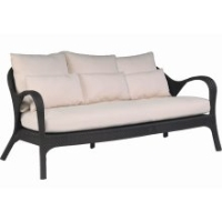 Picture of Whitecraft Bali S533031,All Weather Outdoor Wicker Cushion 3 Seat Sofa Chair