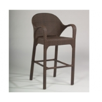 Picture of Whitecraft Bali S533089, All Weather Outdoor Cafeteria Dining Arm Barstool