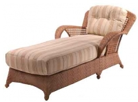Picture of Whitecraft Boca S594041, All Weather Outdoor Wicker Cushion Chaise Lounge