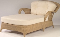 Picture of Whitecraft Boca S594061, All Weather Outdoor Wicker Cushion Bariatric Chaise Lounge