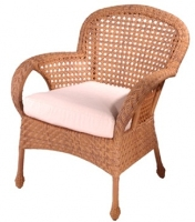 Picture of Whitecraft Boca S594501, All Weather Outdoor Wicker Cushion Dining Chair