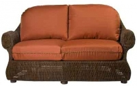 Picture of Whitecraft Boulder Creek S575021, All Weather Outdoor Wicker Cushion Loveseat Chair