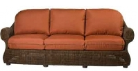 Picture of Whitecraft Boulder Creek S575031,All Weather Outdoor Wicker Cushion 3 Seat Sofa