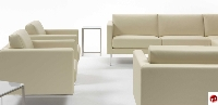 Picture of Cubic 1 Reception Lounge Lobby Club Chair, Swivel Base
