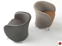 Picture of Well Reception Lounge Lobby Club Chair, Swivel Base