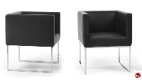 Picture of Ascot  Guest Contemporary Reception Lounge Lobby Club Chair, Swivel Base