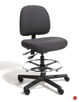 Picture of Cramer Fusion FSLH4,  24/7 Ergonomic Armless Task Stool Chair, Footring, ESD